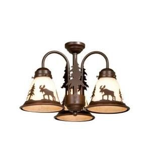 Yellowstone - Three Ceiling Fan Light Kit