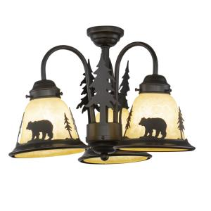 Bozeman 3-Light Convertible Light Kit in Rustic Style 10.5 Inches Tall and 15.5 Inches Wide