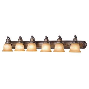 LaSalle 6-Light Bathroom Light in Transitional Style 8.5 Inches Tall and 48 Inches Wide