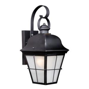 New Haven 1-Light Outdoor Wall Sconce in Traditional and Lantern Style 21.75 Inches Tall and 10 Inches Wide