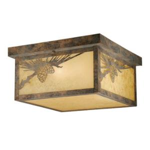 Yellowstone - Two Light Outdoor Ceiling Mount