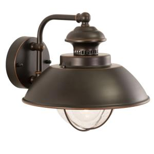 Harwich 1-Light Outdoor Wall Sconce in Coastal and Barn Style 10.25 Inches Tall and 10 Inches Wide