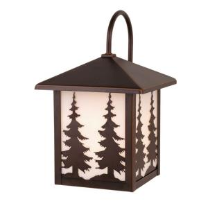 Yosemite 1-Light Outdoor Wall Sconce in Rustic and Lantern Style 12.5 Inches Tall and 8 Inches Wide