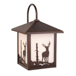 Bryce 1-Light Outdoor Wall Sconce in Rustic and Lantern Style 12.5 Inches Tall and 8 Inches Wide