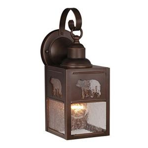 Bozeman 1-Light Outdoor Wall Sconce in Rustic and Lantern Style 13 Inches Tall and 5 Inches Wide