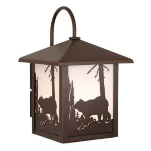 Bozeman 1-Light Outdoor Wall Sconce in Rustic and Lantern Style 12.5 Inches Tall and 8 Inches Wide