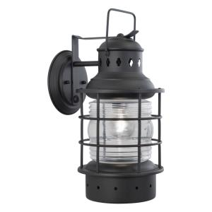 Hyannis 1-Light Outdoor Wall Sconce in Coastal and Lantern Style 18 Inches Tall and 8 Inches Wide