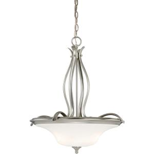 Sonora 3-Light Pendant in Transitional and Bowl Style 22.5 Inches Tall and 20.25 Inches Wide