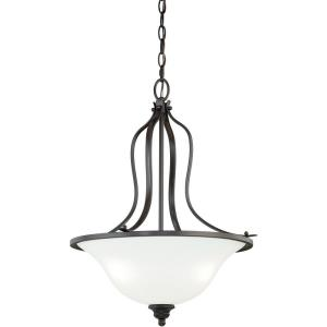 Darby 3-Light Pendant in Transitional and Bowl Style 22 Inches Tall and 18 Inches Wide