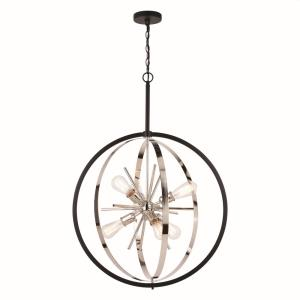 Estelle-6 Light Pendant-26.75 Inches Wide by 38 Inches High