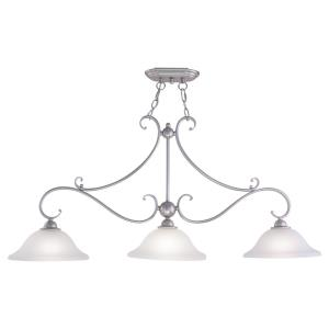 Monrovia 3-Light Linear Chandelier in Transitional Style 20.25 Inches Tall and 43.75 Inches Wide