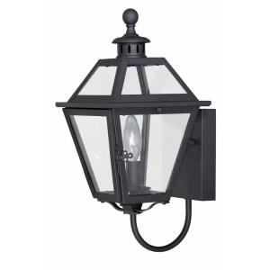 Nottingham 1-Light Outdoor Wall Sconce in Transitional and Lantern Style 14.75 Inches Tall and 7 Inches Wide