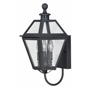 Nottingham 3-Light Outdoor Wall Sconce in Transitional and Lantern Style 20 Inches Tall and 9 Inches Wide