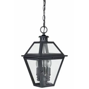 Nottingham 3-Light Outdoor Pendant in Transitional and Lantern Style 16 Inches Tall and 9 Inches Wide