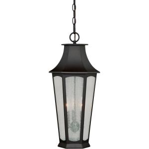 Preston 3-Light Outdoor Pendant in Traditional and Lantern Style 22.25 Inches Tall and 10.25 Inches Wide