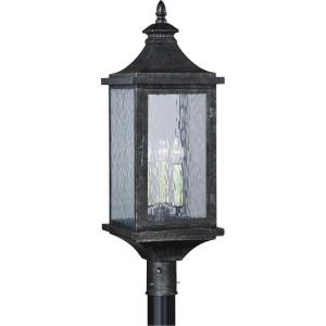 Cavanaugh 3-Light Outdoor Post in Traditional and Rectangular Style 30.5 Inches Tall and 10 Inches Wide