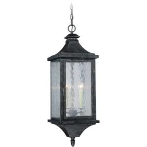 Cavanaugh 3-Light Outdoor Pendant in Traditional and Empire Style 29.75 Inches Tall and 10 Inches Wide
