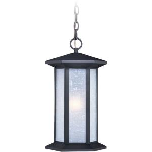 Halsted 1-Light Outdoor Pendant in Transitional and Cylinder Style 18 Inches Tall and 10 Inches Wide