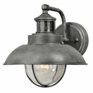 Harwich-1 Light Motion Sensor Dusk to Dawn Outdoor Wall Lantern-10 Inches Wide by 10 Inches High