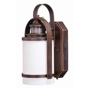 Weston 1-Light Outdoor Motion Sensor in Transitional and Cylinder Style 12.5 Inches Tall and 6.5 Inches Wide