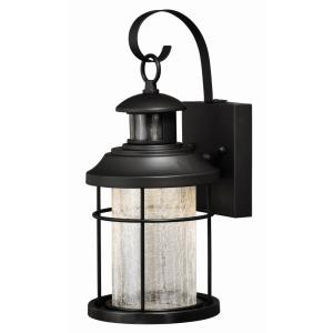 Melbourne 1-Light Outdoor Motion Sensor in Coastal and Cylinder Style 14 Inches Tall and 6.25 Inches Wide
