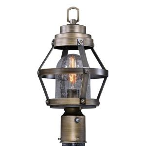 Bruges 1-Light Outdoor Post in Industrial and Empire Style 17.25 Inches Tall and 9 Inches Wide