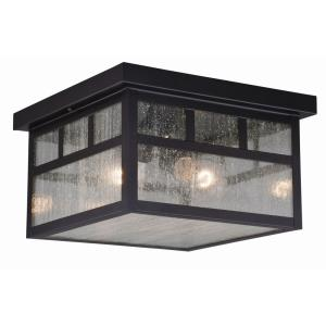 Mission - Two Light Outdoor Flush Mount