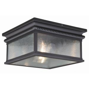 Cambridge 2-Light Outdoor Ceiling in Traditional and Square Style 6.5 Inches Tall and 12 Inches Wide