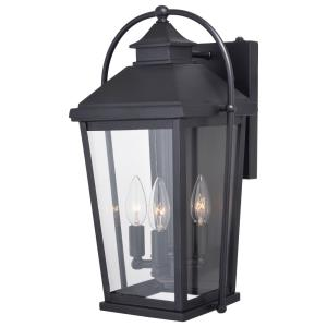 Lexington 3-Light Outdoor Wall Sconce in Traditional and Lantern Style 17.25 Inches Tall and 9.5 Inches Wide