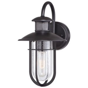 Bar Harbor 1-Light Outdoor Motion Sensor in Coastal and Lantern Style 13.25 Inches Tall and 7.5 Inches Wide