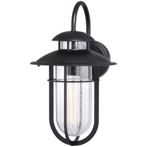 Bar Harbor 1-Light Outdoor Wall Sconce in Coastal and Lantern Style 16 Inches Tall and 9.5 Inches Wide