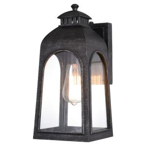 Pilsen 1-Light Outdoor Wall Sconce in Traditional and Rectangular Style 14.25 Inches Tall and 6.5 Inches Wide