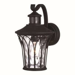 Abigail 1-Light Outdoor Motion Sensor in Traditional and Empire Style 12.25 Inches Tall and 7.5 Inches Wide