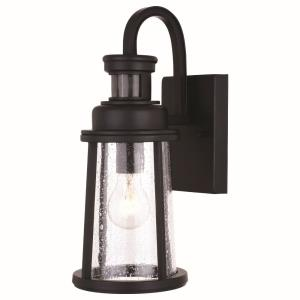 Coventry 1-Light Outdoor Motion Sensor in Transitional and Lantern Style 15 Inches Tall and 6 Inches Wide