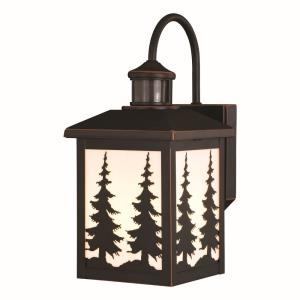 Yosemite 1-Light Outdoor Motion Sensor in Rustic and Lantern Style 14.75 Inches Tall and 7 Inches Wide