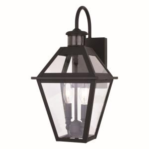 Nottingham 2-Light Outdoor Motion Sensor in Transitional and Empire Style 17.25 Inches Tall and 8.5 Inches Wide