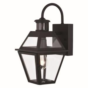 Nottingham 1-Light Outdoor Motion Sensor in Transitional and Empire Style 14.25 Inches Tall and 7 Inches Wide
