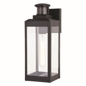 Kinzie 1-Light Outdoor Motion Sensor in Transitional and Rectangular Style 13.75 Inches Tall and 5 Inches Wide