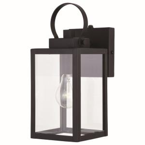 Medinah 1-Light Outdoor Wall Sconce in Transitional and Rectangular Style 12.25 Inches Tall and 5 Inches Wide