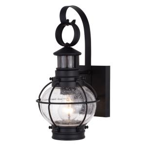 Chatham 1-Light Outdoor Motion Sensor in Coastal and Lantern Style 13.5 Inches Tall and 6.75 Inches Wide