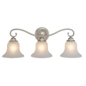 Monrovia 3-Light Bathroom Light in Transitional Style 9.25 Inches Tall and 26 Inches Wide