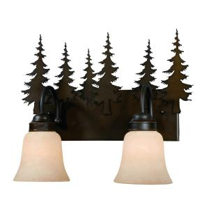Yosemite-Two Light Bath Bar-16.63 Inches Wide by 13.75 Inches High