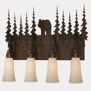 Bozeman-Four Light Wall Sconce-8 Inches Wide by 14 Inches High