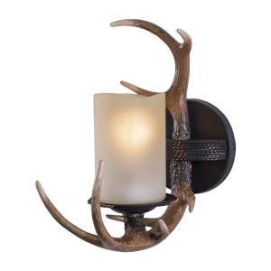 Yoho 1-Light Wall Sconce in Rustic Style 13 Inches Tall and 5.5 Inches Wide