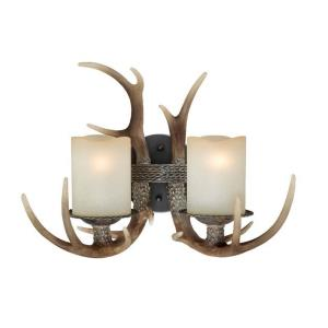 Yoho 2-Light Wall Sconce in Rustic Style 12.5 Inches Tall and 16.75 Inches Wide