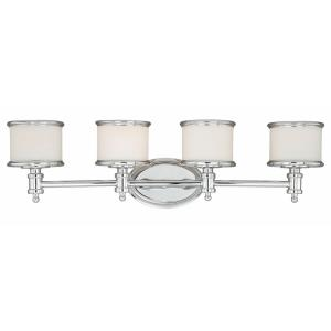 Carlisle 4-Light Bathroom Light in Transitional Style 8 Inches Tall and 30.25 Inches Wide