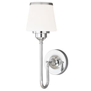 Kelsy 1-Light Bathroom Light in Transitional Style 16 Inches Tall and 6 Inches Wide
