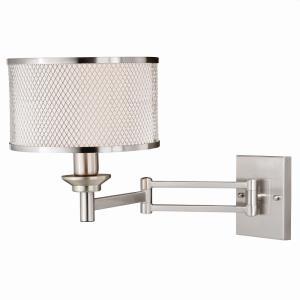 Polk - 1 Light Sensor Swing Arm Wall Sconce