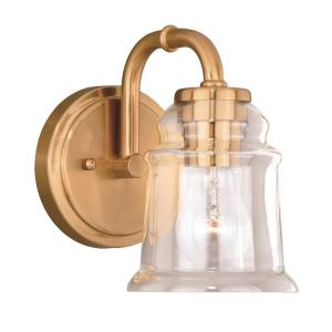 Toledo 1-Light Bathroom Light in Industrial Style 8.25 Inches Tall and 5.25 Inches Wide
