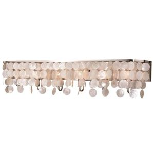 Elsa 6-Light Bathroom Light in Transitional Style 9 Inches Tall and 42 Inches Wide